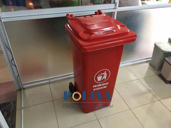 Thùng rác nhựa 240l màu đỏ hàng Việt Nam