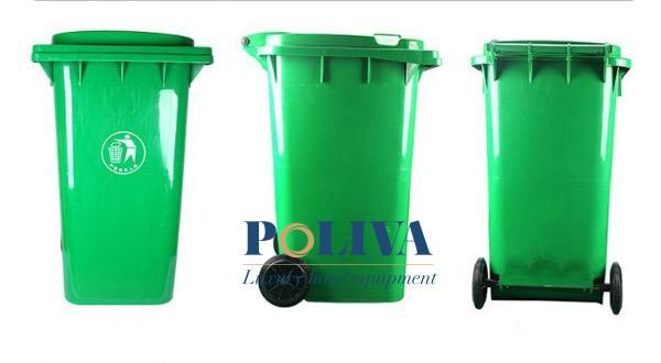 Kết cấu 3 mặt của thùng rác nhựa HDPE