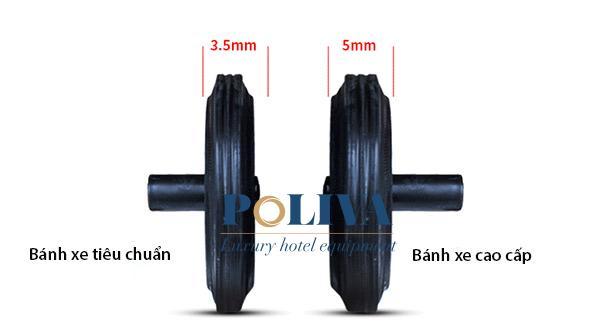 Tiêu chuẩn kích cỡ bánh xe loại 1 lắp đặt cho thùng rác 240l
