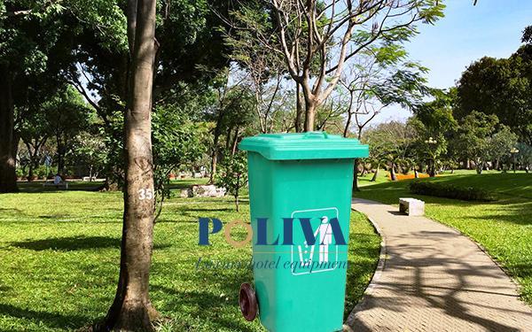6 ưu điểm nổi bật chỉ có ở Thùng rác nhựa Composite nhập khẩu Poliva