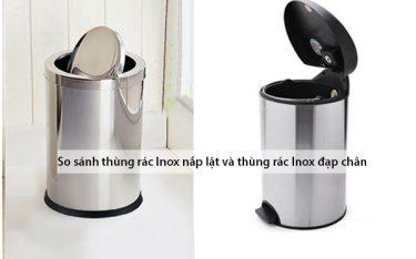 Thùng rác inox nắp lật và đạp chân: Loại nào bền, tiện dụng hơn?