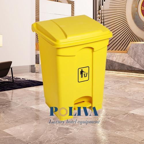 Thùng rác nhựa đạp chân 68l