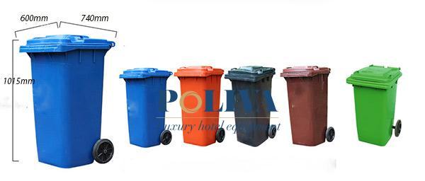 Kích thước Thùng rác nhựa 240 lít và các phiên bản màu sắc