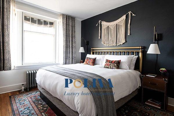 Những chiếc giường truyền thống sẽ đem lại sự sang trọng và tiện nghi hơn cho khách sạn