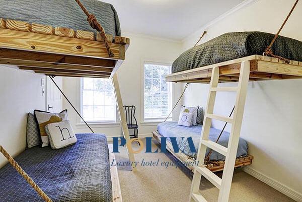 Những chiếc giường pallet treo sẽ khiến cho homestay của bạn độc nhất vô nhị đó