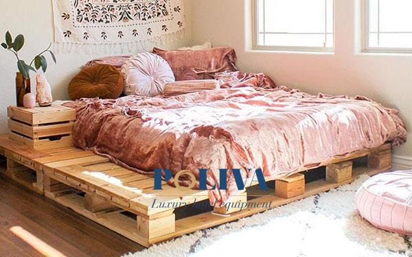Những ý tưởng trang trí giường ngủ pallet homestay đẹp, sáng tạo