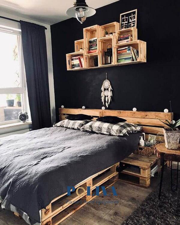 Giường pallet rất dễ dàng thiết kế và tính ứng dụng cao