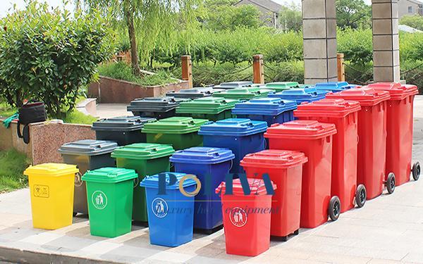 Dung tích thùng rác nhựa rất đa dạng