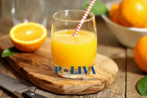 Nước cam dễ uống nên dễ làm hài lòng các vị khách