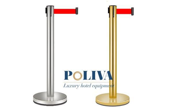 Cột chắn Inox mạ vàng và mạ bạc có gì khác nhau, nên dùng loại nào?