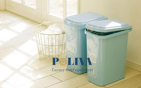 Chọn loại thùng rác dung tích phù hợp đặt ở góc khuất
