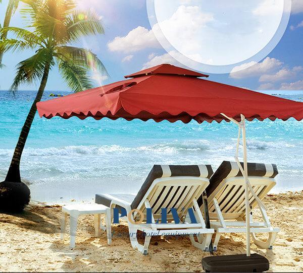 Dù lệch tâm vuông 3m thường được sử dụng phổ biến ở bãi biển