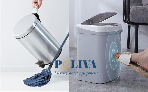 Nên dùng thùng rác cảm ứng thông minh hay thùng rác thường?