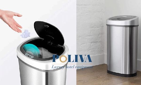 Nắp thùng rác cảm ứng tự đóng mở