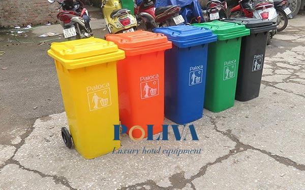 Các dung tích thùng rác công nghiệp phổ biến dùng cho nơi công cộng