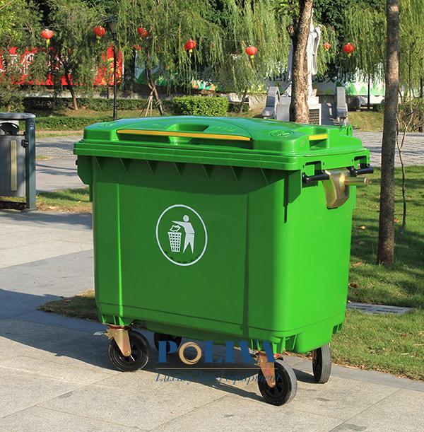 Thùng rác công nghiệp 660l - cỡ dung tích lớn