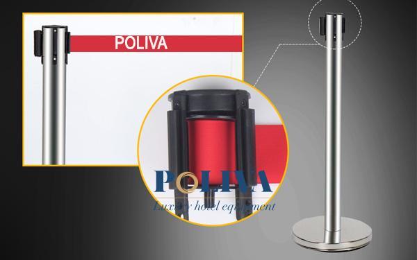 Poliva là đơn vị cung cấp cột chắn inox có in logo cao cấp và chất lượng