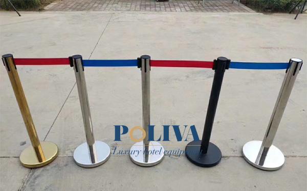 Cột chắn inox dây căng có màu dây đa dạng