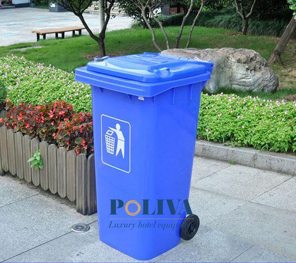 Mẫu thùng rác nhựa 120L cao cấp