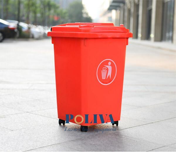 Thùng rác nhựa 60l có màu sắc đa dạng
