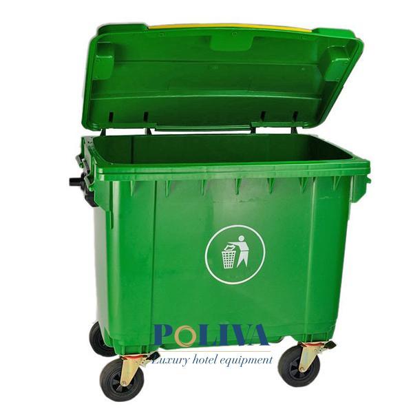 Nắp thùng rác dễ dàng mở - đóng để sử dụng