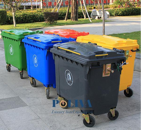 Màu sắc đa dạng của thùng rác công nghiệp 660L