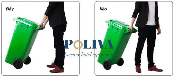 Thùng rác kéo đẩy dễ dàng