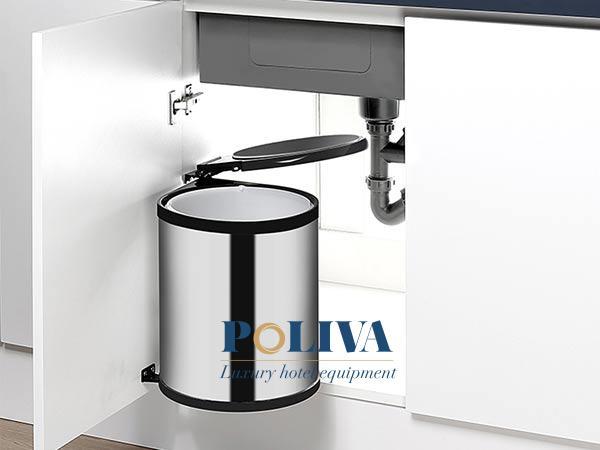 Thùng rác âm tủ có kích thước đặc trưng nên khi thay mới khá khó khăn