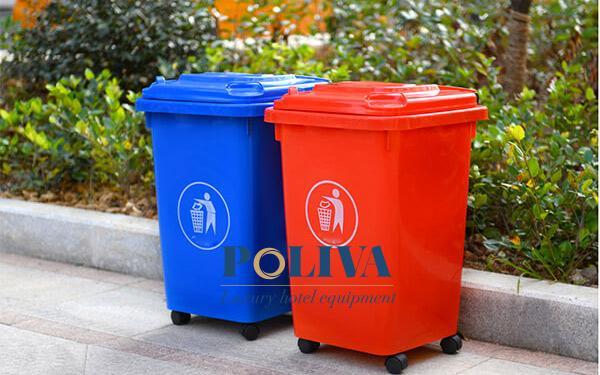 Thùng rác nhựa kiểu dáng đơn giản