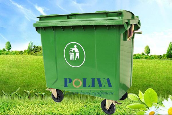 Thùng rác công nghiệp 660l được sử dụng phổ biến hiện nay
