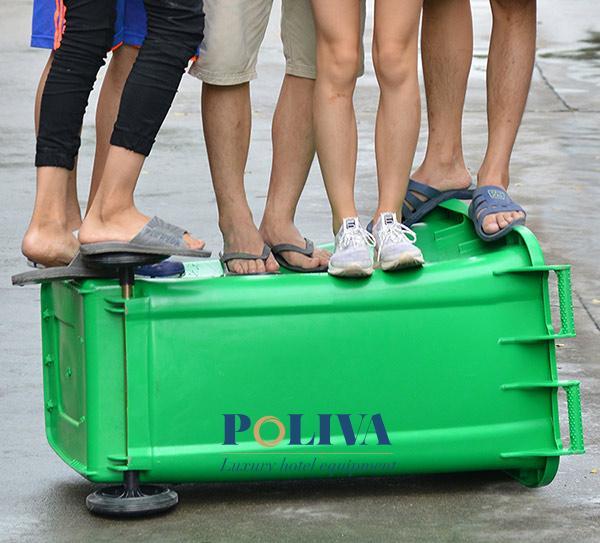 Thùng rác nhựa 240l của Poliva rất bền