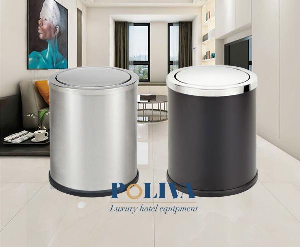 Thùng rác nắp bập bênh cỡ nhỏ thích hợp sử dụng trong gia đình