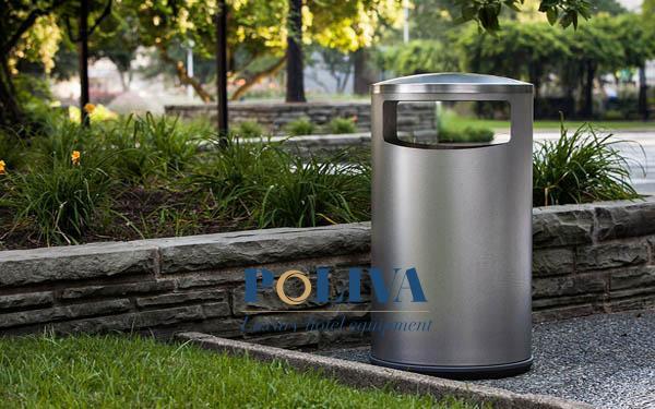 vệ sinh thùng rác inox