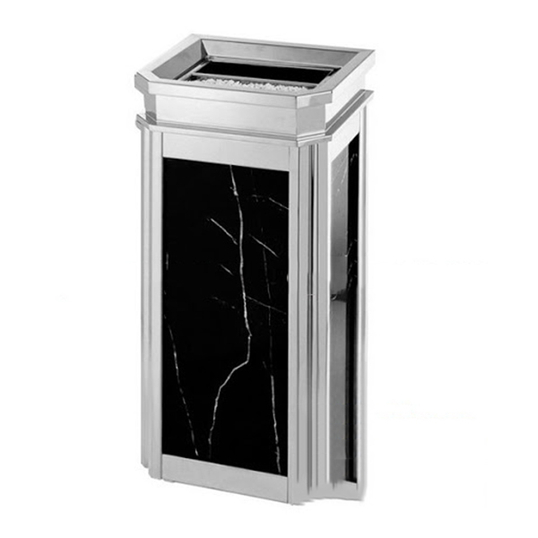 vệ sinh thùng rác đá hoa cương