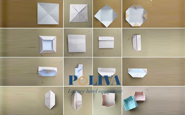 Các bước gấp thùng rác bằng giấy Origami đơn giản nhất