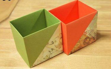 Khéo tay thì thử: Các cách làm thùng rác mini để bàn