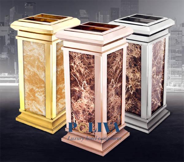 cung cấp thùng rác đá hoa cương