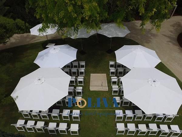 dù lệch tâm trang trí tiệc cưới