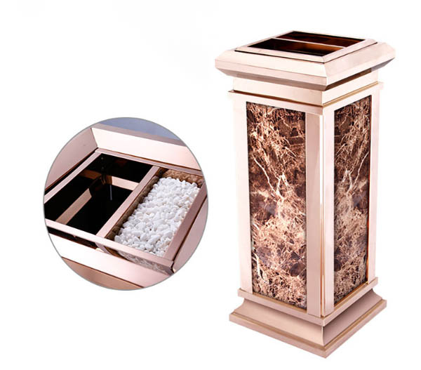 giá thùng rác đá hoa cương