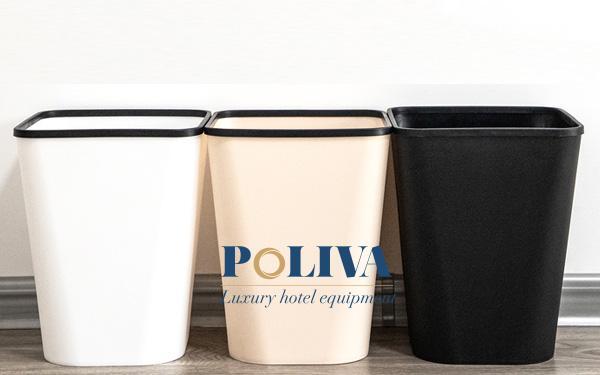 Chọn màu sắc của thùng rác nên hài hòa với không gian
