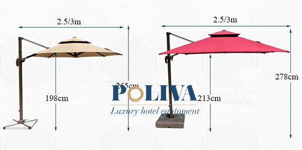 Cùng 1 mẫu mã nhà sản xuất có thể lên 2 kích thước dù lệch tâm 2.5m và 3m