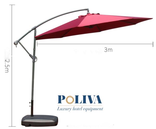 Dù che nắng với kích thước 3m được thiết kế kiểu dáng hiện đại, tiện lợi trong quá trình sử dụng