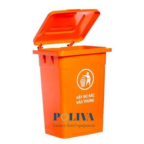 Thùng rác không bánh xe thích hợp đặt cố định ở 1 vị trí