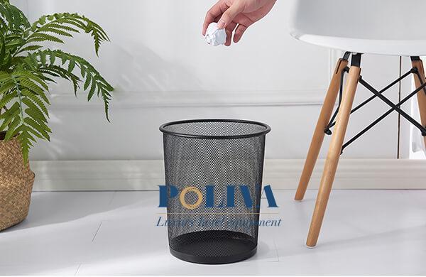 Thùng rác lưới văn phòng dùng để đựng rác văn phòng phẩm