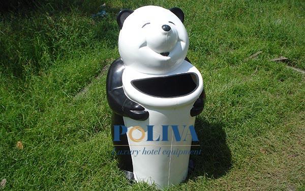 thùng rác ngộ nghĩnh ngoài trời