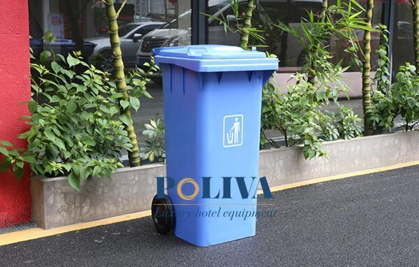 Thùng rác nhựa 120 lít có bánh xe
