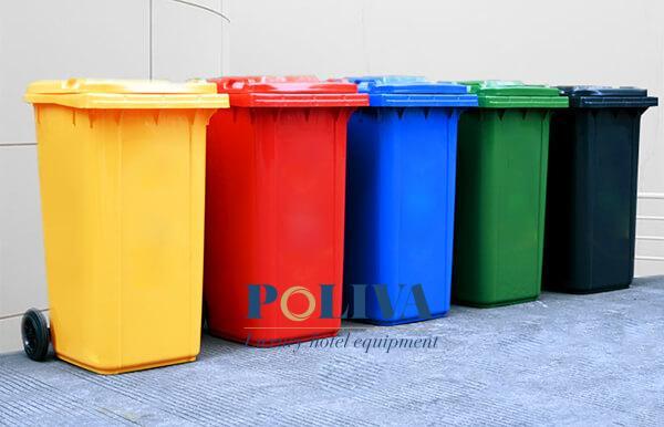 Thùng rác nhựa HDPE 120 lít cao cấp, nhiều màu sắc