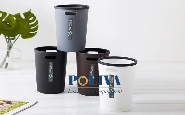 Thùng rác bằng nhựa thiết kế đơn giản và đa dạng về màu sắc