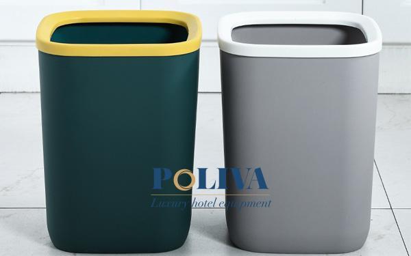 Mẫu thùng rác bằng nhựa không nắp dành cho người yêu phong cách đơn giản