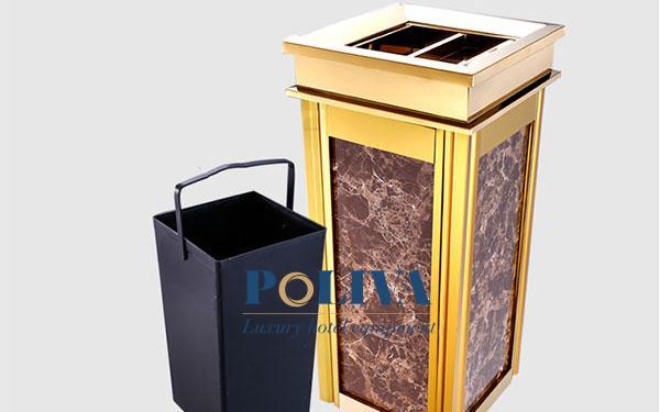 Góc tư vấn: 5 không gian nên trang bị thùng rác đá hoa cương